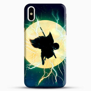 Zenitsu Agatsuma Demon Slayer Art iPhone X Case, Black Snap 3D Case | JoeYellow.com