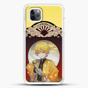 Zenitsu Agatsuma Funny iPhone 11 Pro Max Case, White Rubber Case | JoeYellow.com
