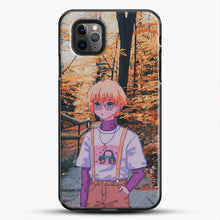 Load image into Gallery viewer, Zenitsu Agatsuma In The Forest iPhone 11 Pro Max Case, Black Plastic Case | JoeYellow.com