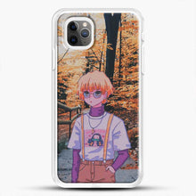 Load image into Gallery viewer, Zenitsu Agatsuma In The Forest iPhone 11 Pro Max Case, White Rubber Case | JoeYellow.com