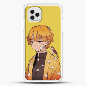 Zenitsu Agatsuma iPhone 11 Pro Case, White Rubber Case | JoeYellow.com