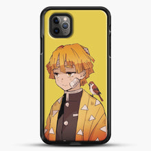Load image into Gallery viewer, Zenitsu Agatsuma iPhone 11 Pro Max Case, Black Rubber Case | JoeYellow.com