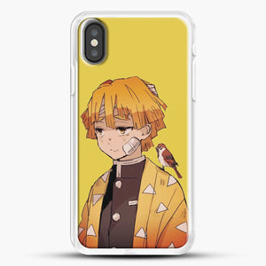 Zenitsu Agatsuma iPhone X Case, White Rubber Case | JoeYellow.com