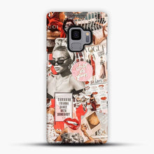 Load image into Gallery viewer, red retro collage Samsung Galaxy S9 Case