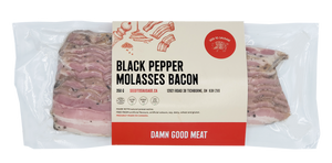 Black Pepper Molasses Bacon