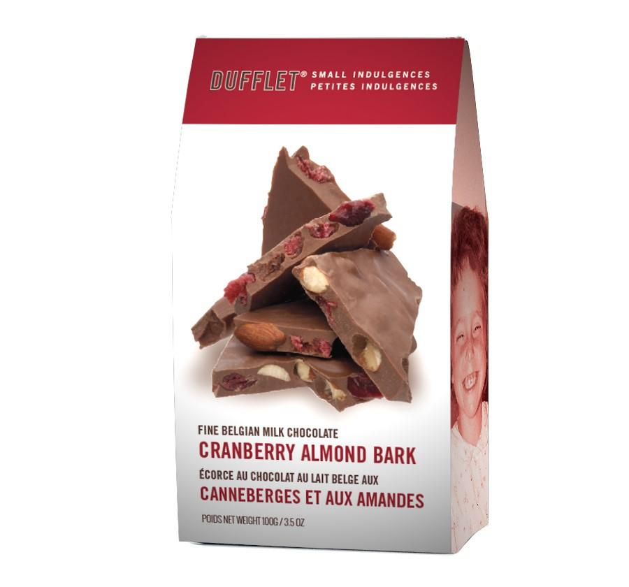 Cranberry and Milk Chocolate Almond Bark