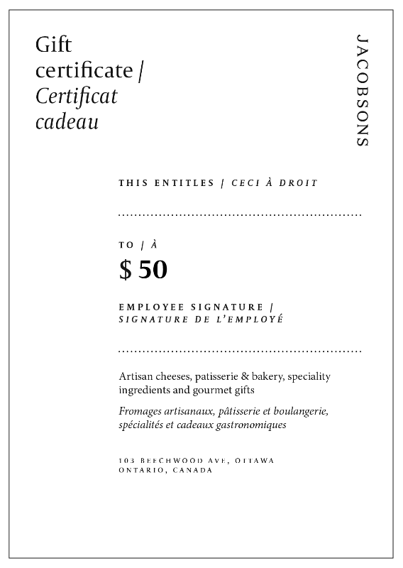 Load image into Gallery viewer, Jacobsons Gift Certificate