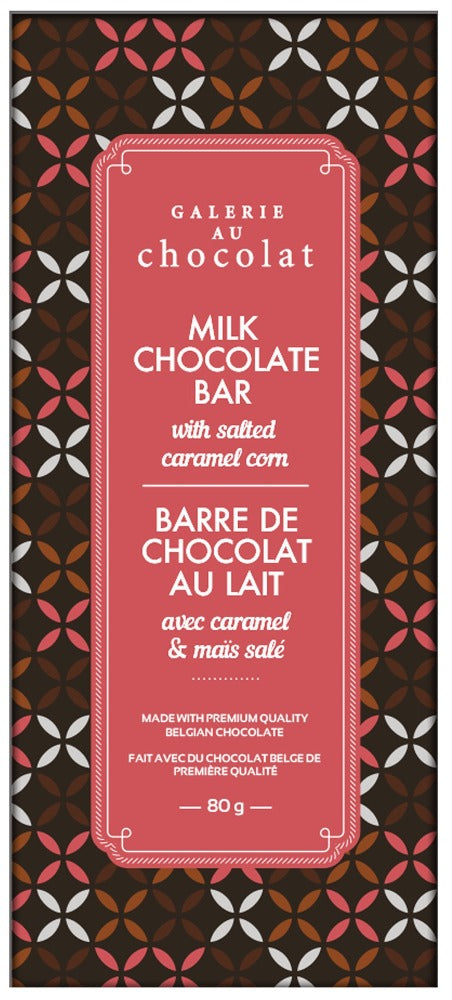 Load image into Gallery viewer, Milk Chocolate Salted Caramel Corn Bar