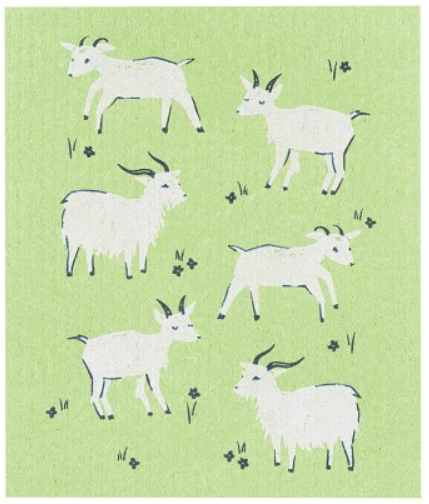 Load image into Gallery viewer, Swedish Dish Cloth - Goat's Grazing