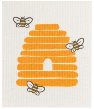 Load image into Gallery viewer, Swedish Dish Cloth - Honey Bees