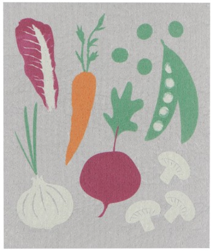 Load image into Gallery viewer, Swedish Dish Cloth - Market Veggies