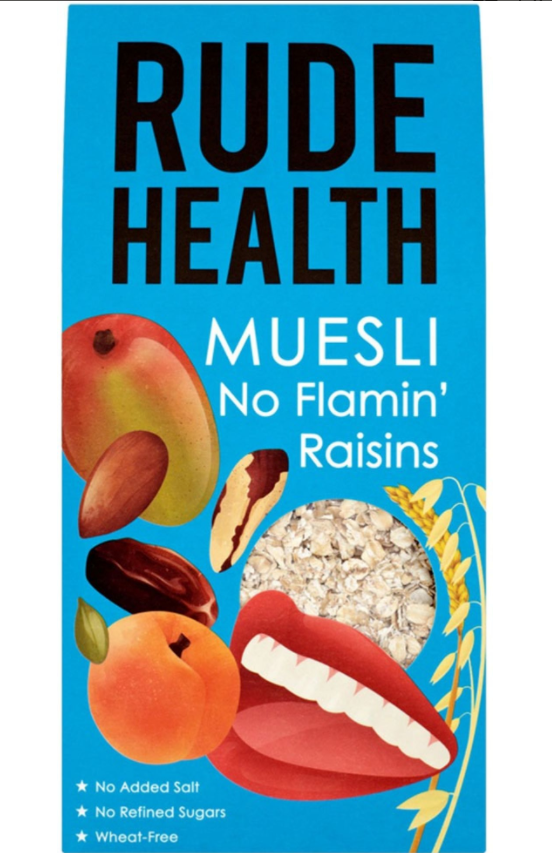 No Flamin Raisins Muesli