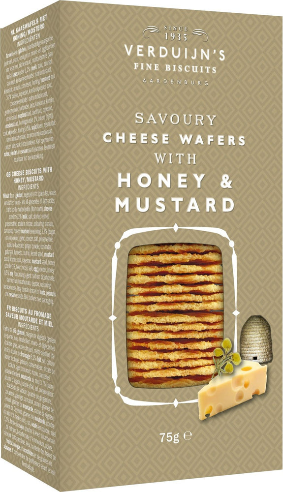 Savoury Cheese Wafers with Honey & Mustard