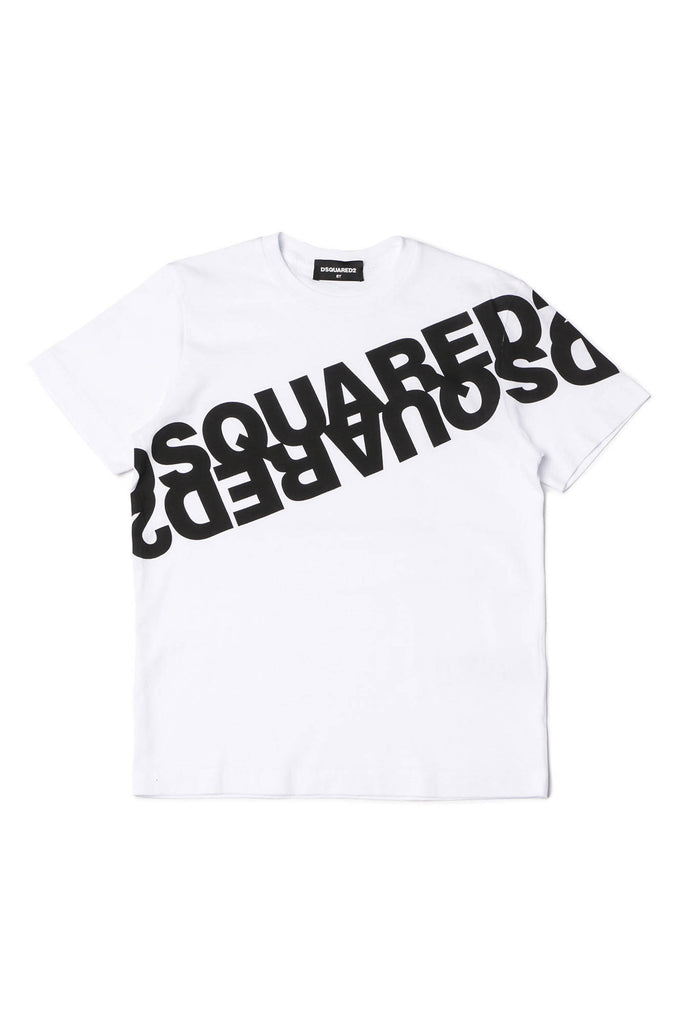 Dsquared2. T-shirt branca com logotipo