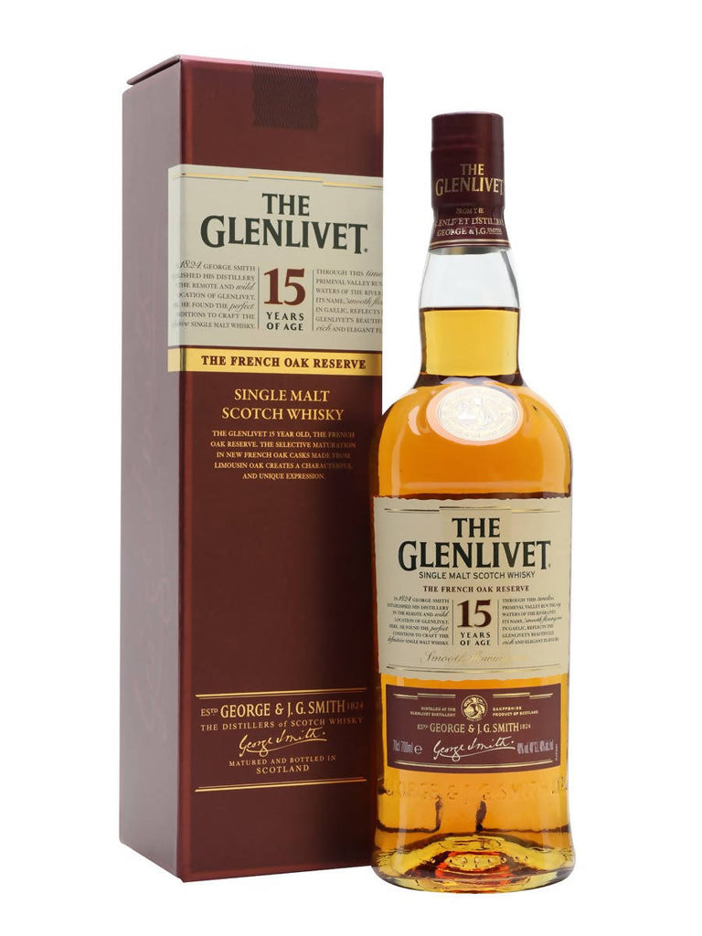 THE GLENLIVET WHISKY 15 YEARS 700 ML
