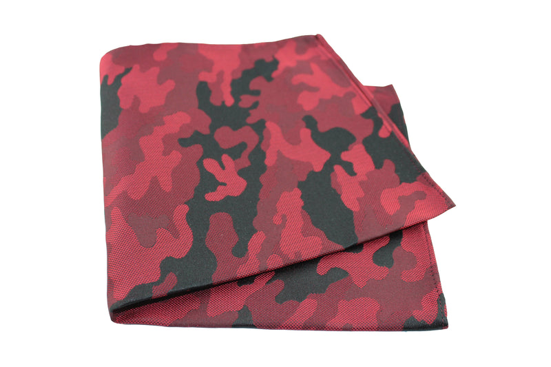 KRAGÜ POCKET SQUARE CAMOUFLAGE RED - KRAGÜ GmbH