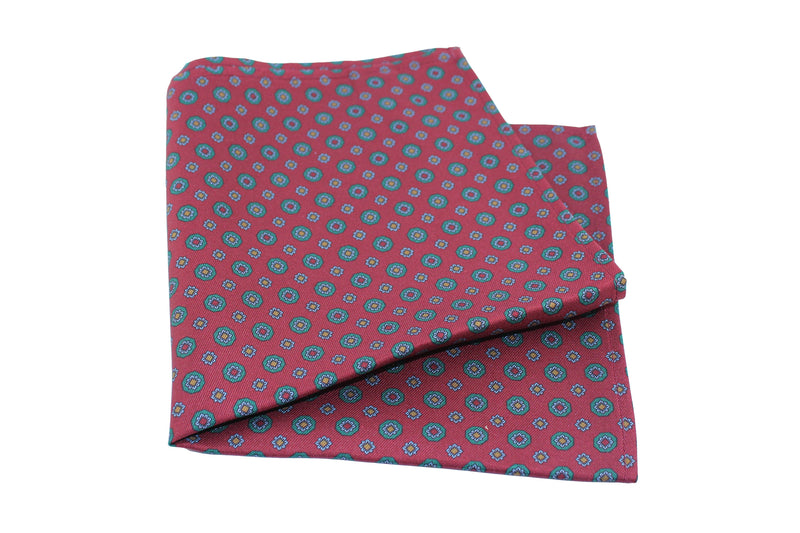 KRAGÜ POCKET SQUARE FLOWER CLASSY RED - KRAGÜ GmbH