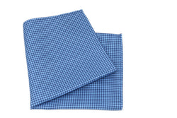 KRAGÜ POCKET SQUARE HOUNDSTOOTH BLUE - KRAGÜ GmbH