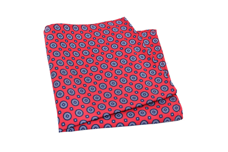 KRAGÜ POCKET SQUARE MANDALA RED - KRAGÜ GmbH