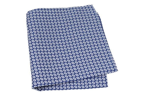 KRAGÜ POCKET SQUARE MARINE BLUE FLOWER - KRAGÜ GmbH
