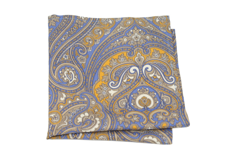 KRAGÜ POCKET SQUARE PAISLEY GOLDEN DREAM - KRAGÜ GmbH