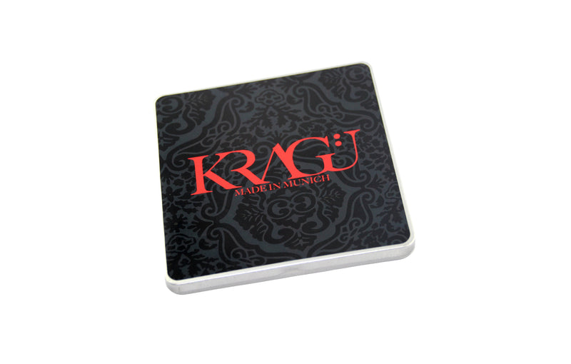 KRAGÜ POCKET SQUARE RED WHITE QUADRAT - KRAGÜ GmbH