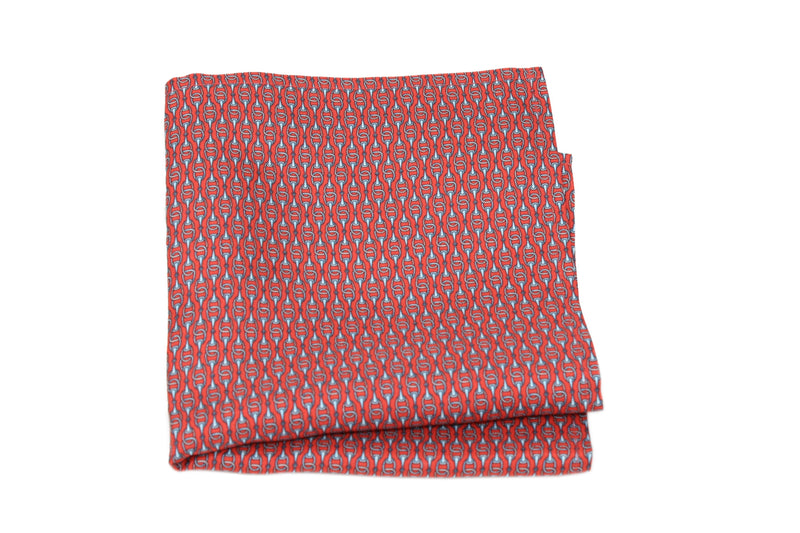 KRAGÜ POCKET SQUARE STIRRUP RED WHITE - KRAGÜ GmbH