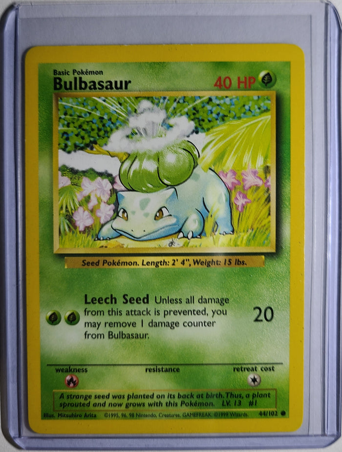 Pokemon Bulbasaur 44/102 Base Set Good Condition