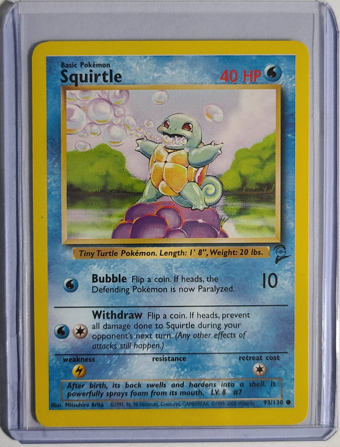 Pokemon Squirtle 95/110 2nd Edition Base Set Good Condition