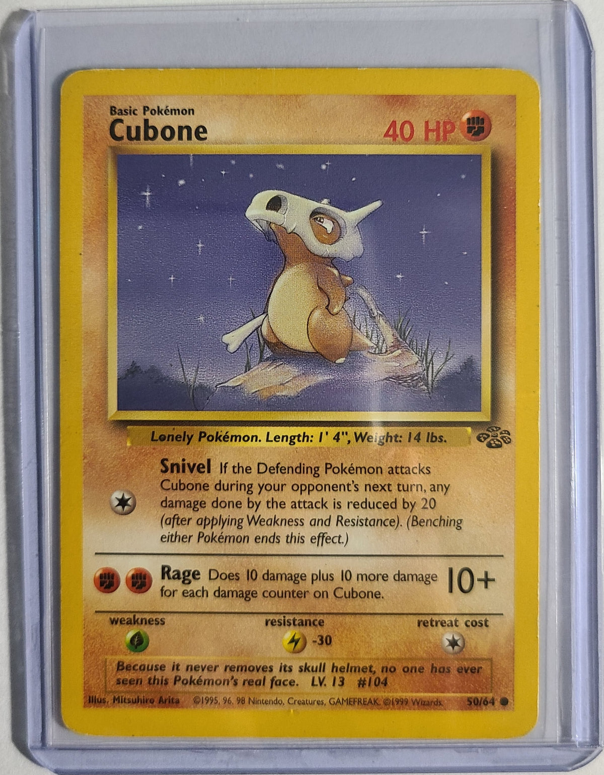 Pokemon Cubone 50/64 Jungle Set Good Condition
