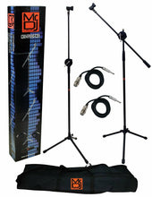 Load image into Gallery viewer, Mr. Dj MS-700OKG Heavy-Duty Tripod Microphone Stand/cables/connectors