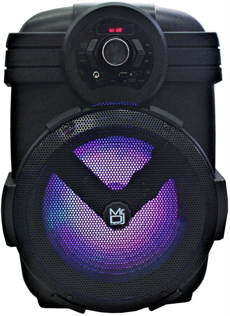 "Mr Dj Yuma <br/>12"" Rechargeable Party Speaker +Bluetooth+USB/FM Radio+LED Light"