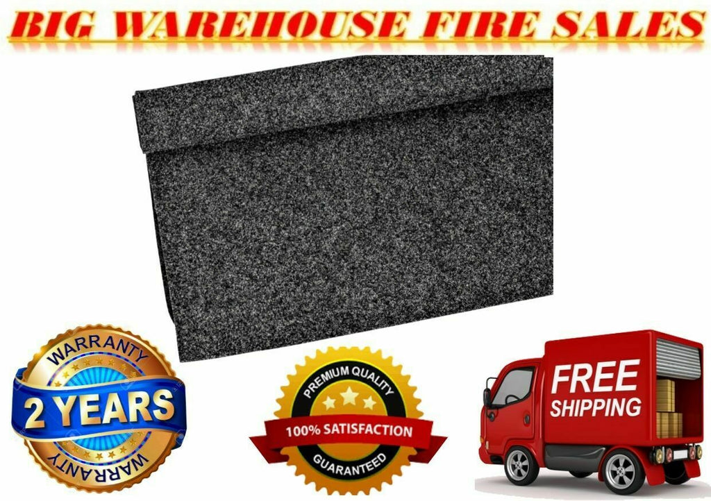 MR DJ 150'L X 4'W Dark Gray Car, PA DJ Speaker Box Upholstery Liner Carpet
