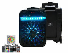 "Load image into Gallery viewer, MR.DJ AXL 10"" PORTABLE SPEAKER WITH BLUETOOTH/RECHARGEABLE BAT w/APP CONTROL"