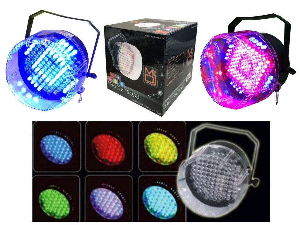 MR DJ MAGICSTROBE <BR/>Led Strobe Effect Stage Lighting with RGB Color Mixing & Built