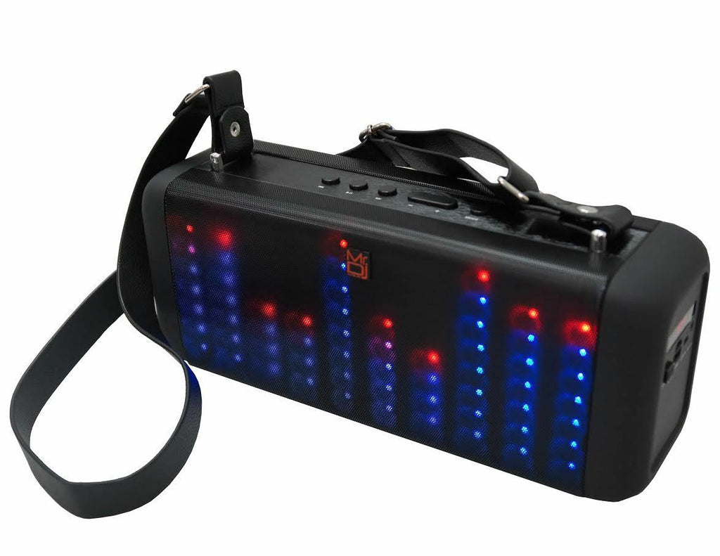 "Mr Dj Soul <br/>4"" Portable power active speaker with bluetooth, rechargeable battery and led lights"