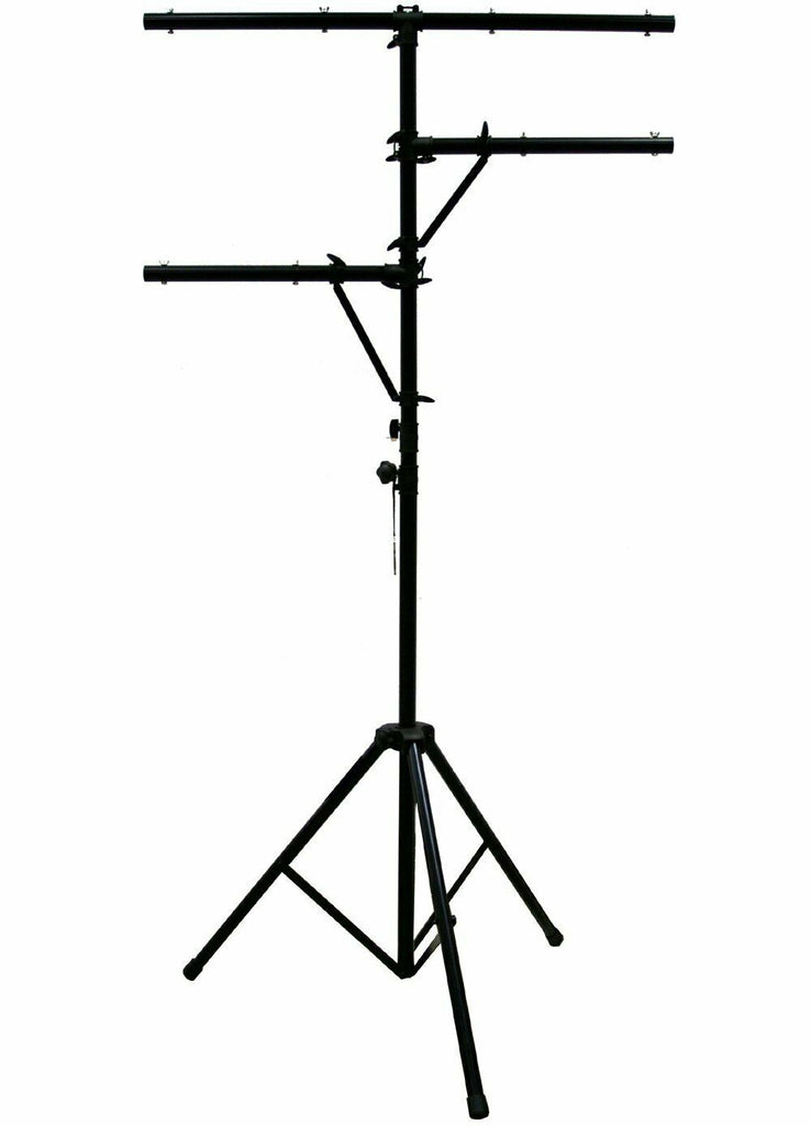 Mr Dj LS300 <BR/>Single 12ft Tall T-BAR Light Stand with Dual Side BAR