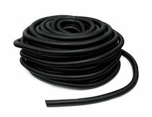 "Load image into Gallery viewer, MR DJ SLT14-100 Black Split Loom Tube Tubing 1/4"" 100 Ft Roll"