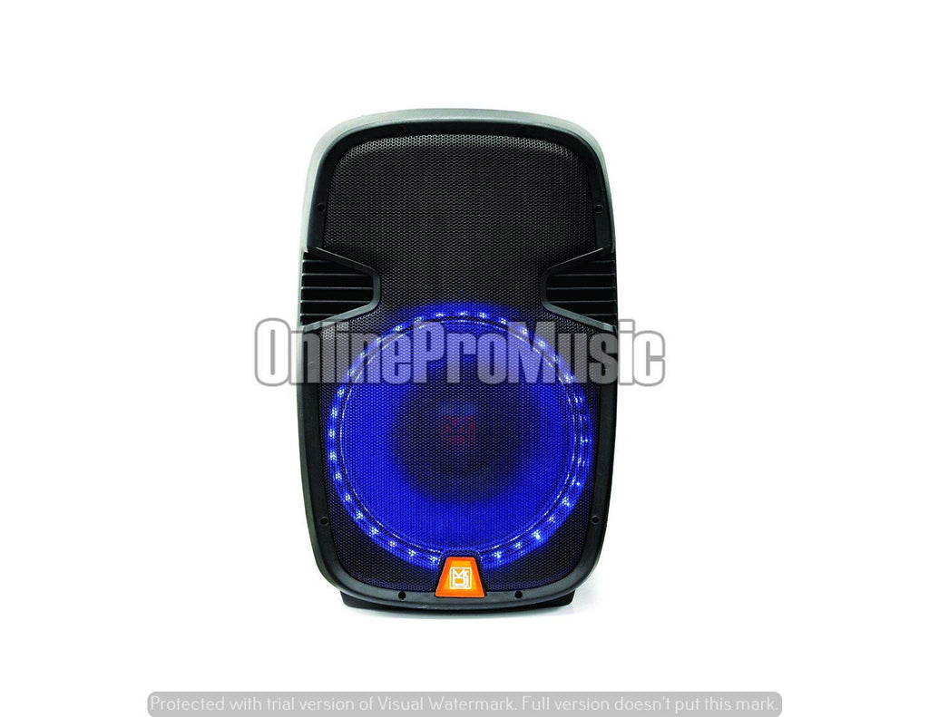 "Mr. Dj PBX2159S 12"" 2-Way Portable Passive Speaker with LED Accent Lighting"