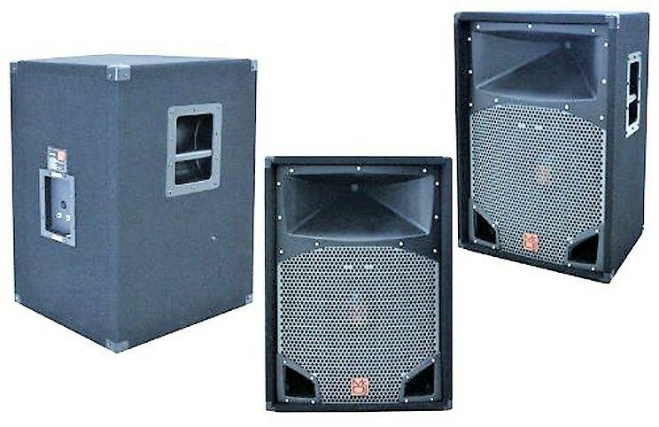 "MR DJ COMS15 <br/>2-Way PA DJ Speaker 15"" 2500 Watts with 2"" Titanium Driver 430W RMS"
