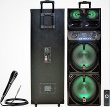 "Load image into Gallery viewer, Mr. Dj EMERALD<br/> 3-Way Dual 12"" Portable Active Speaker, Max Power 5000 Watts"