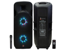 "Load image into Gallery viewer, MR DJ Lets Jump<br>Dual 15"" 3Way 5000W DJ Active Speaker Powered PA Party BT USB Speaker MIC"