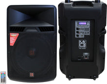 "Load image into Gallery viewer, MR DJ PBX-5000BT <br/>18"" 2 way active pa/dj speaker usb/bluetooth/sd card mp3 reader"