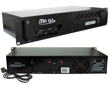 Load image into Gallery viewer, MR DJ AMP2800<BR/> 800W MAX, 2-channel 300 watts RMS bridgeable dynamic series PA DJ power amplifier