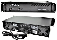 Load image into Gallery viewer, MR DJ AMP3800<BR/> 1000W MAX, 2-channel 360 watts RMS bridgeable dynamic series PA DJ power amplifier