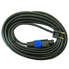 Load image into Gallery viewer, Mr. Dj CBSM12 <BR>Speakon Male to Banana Plug 12-Feet Speaker Cable