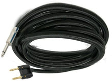 "Load image into Gallery viewer, Mr. Dj CQB25 <BR>Banana Plug to 6.35mm 1/4"" Plug 25-Feet Speaker Cable"