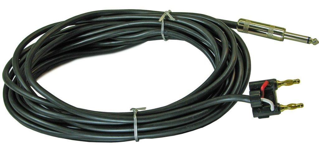 "Mr. Dj CQB3 <BR>Banana Plug to 6.35mm 1/4"" Plug 3-Feet Speaker Cable"
