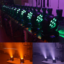 Load image into Gallery viewer, Mr. Dj LMH700 <br/>7x12W 4-in-1 RGBW LED Beam Wash Zoom Lamp Moving Head Light DJ Show Stage Lighting DMX for Show DJ Disco Bars Wedding Live House Nightclub Party Church Light