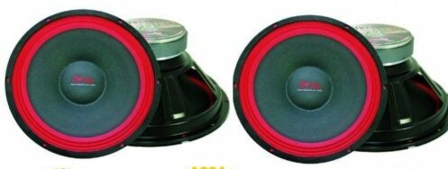 "2 MR DJ PA118 Raw PRO Subwoofer<br/>700W 18"" Raw replacement PRO PA DJ Speaker Subwoofer 8 Ohm Woofer 40oz Magnet, Black/Red"